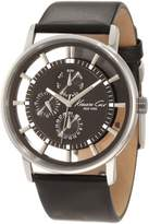 Kenneth Cole New York Men's KC1853 TransparencyBlack Transparent Dial Black Leather Strap