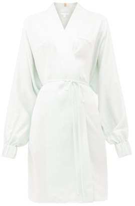 Lunya - Elasticated-cuff Belted Silk Robe - Light Blue