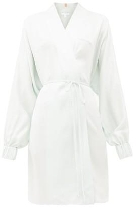 Lunya - Elasticated-cuff Belted Silk Robe - Womens - Light Blue