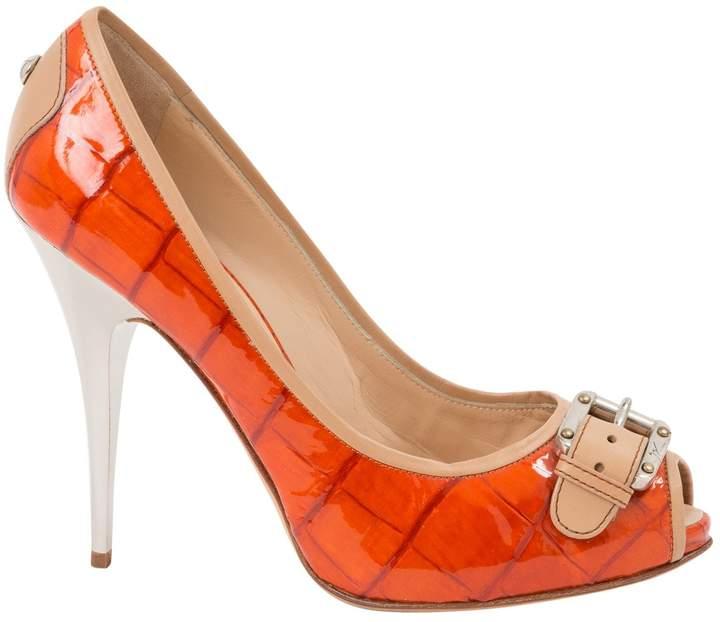 Giuseppe Zanotti Orange Patent leather Heels