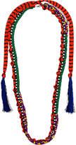 Missoni macramé chain necklace