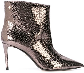ALEVÌ Milano Metallic Ankle Boots