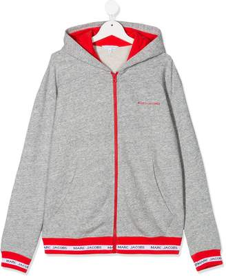 Little Marc Jacobs TEEN logo trim hoodie