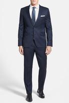 HUGO BOSS Aeron Hamen Two Button Notch Lapel Wool Suit