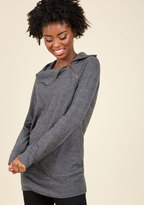 ModCloth Stay Inn Sweater in Grey in 1X