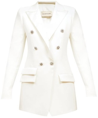 Alexandre Vauthier Double-breasted Crepe Jacket - White