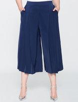 ELOQUII Plus Size Studio Pleated Wide Leg Pant