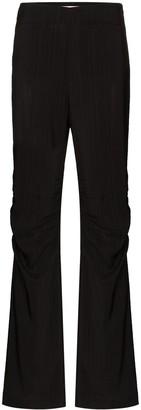 REJINA PYO Allison gathered-knee slim-leg trousers