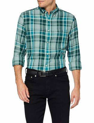 Gant Men's D2. WINDBLOWN Flannel Plaid REG BD Casual Shirt