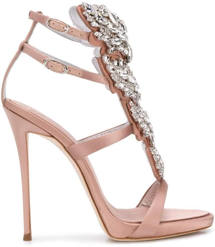 612136663b Giuseppe Zanotti Pink Embellished Women's Sandals - ShopStyle