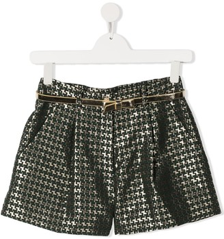 Abel & Lula TEEN houndstooth shorts