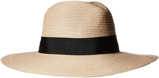 Ale By Alessandra Women's Terranea Toyo Fedora with Ribbon Trim and Rated UPF 50+