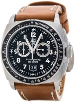 Luminox P-38 Lightning Chronograph Watch - Leather Band (For Men)