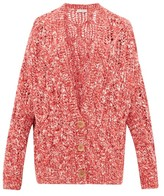 Vika Gazinskaya Oversized Cable-knit Cardigan - Womens - Red Multi