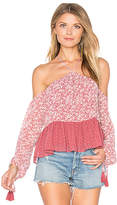 Tularosa Syrah Blouse in Pink. - size L (also in M,S)