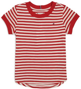 Tommy Hilfiger Junior Striped Cotton T-Shirt (4-16 Years)