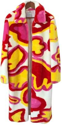 Mira Mikati Multicolour Faux fur Coat for Women