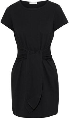 Rebecca Minkoff Mary Tie-front Cotton-jersey Mini Dress