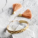 Brass Tassel Cuff Bracelet