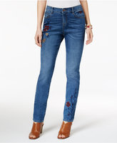 Style&Co. Style & Co Embroidered Slim-Leg Jeans, Only at Macy's