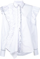 Preen by Thornton Bregazzi ruffled detail shirt - women - Cotton - S