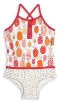 Hatley Toddler's, Little Girl's & Girl's Pineapple Printed Swimsuit