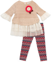 Rare Editions 2-Pc.Sweater Tunic & Leggings Set, Baby Girls'