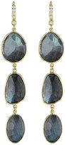 Penny Preville 18k Labradorite & Diamond Triple-Drop Earrings