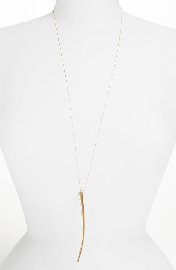 Topshop 'Thin Tusk' Pendant Necklace