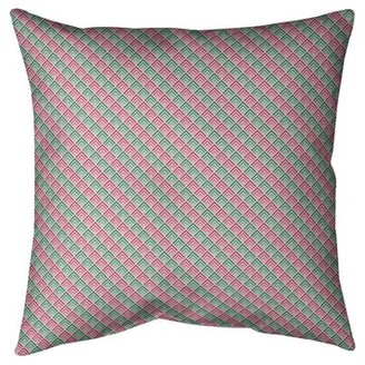 "East Urban Home Katelyn Elizabeth Reverse Ombre Geometric Cotton Throw Pillow East Urban Home Size: 26"" H x 26"" W, Fill Material: No Fill, Color: Gray Ombre"