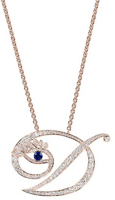 Tabayer Eye 18K Rose Gold, Diamond & Sapphire Dedicated Pendant Necklace