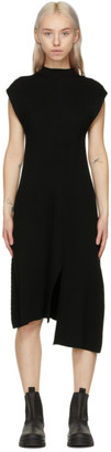 Kenzo Black Wool Asymmetric Jumper Dress