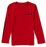 Hurley Big Boys 8-20 One & Only Long-Sleeve Tee