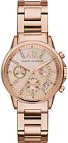Armani Exchange Rose gold bracelet watch