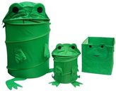 Starting Small Frog Toy Chest Hamper, Cube and Waste Basket set