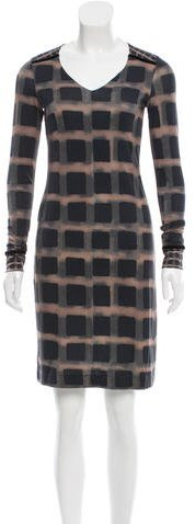 Etro Geometric Print Knit Dress