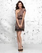 Beaded One-Shoulder Flapper Dress