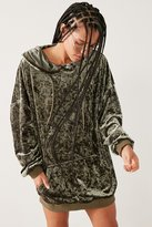 Silence & Noise Silence + Noise Oversized Velour Hoodie Top