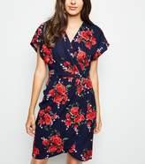 New Look Mela Floral Wrap Front Dress