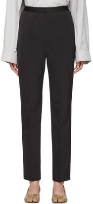 Maison Margiela Black Gabardine Trousers