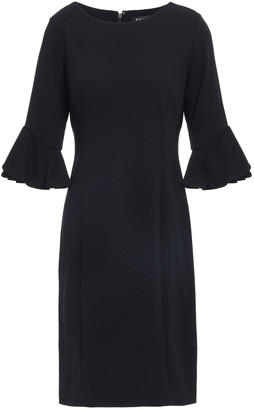 DKNY Ruffled-trimmed Stretch-crepe Dress