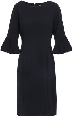 DKNY Split-front Stretch-crepe Sheath Dress