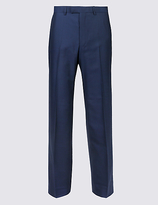 M&S Collection Big & Tall Indigo Tailored Fit Trousers