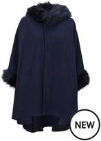 Very Premium Faux Fur Fleece Cape
