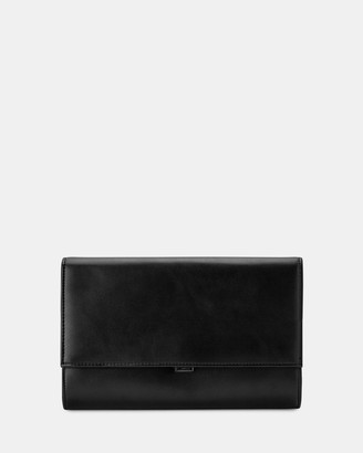 Olga Berg Women's Black Clutches - Madison Fold Over Clutch - Size One Size at The Iconic