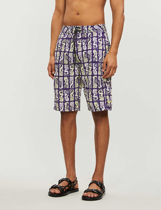 Kenzo Mermaid-print relaxed-fit swim shorts