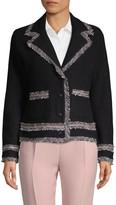 Karl Lagerfeld Paris Frayed Notch Jacket