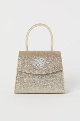 H&M Glittery Shoulder Bag - Brown