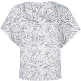 Chalayan printed short-sleeve blouse