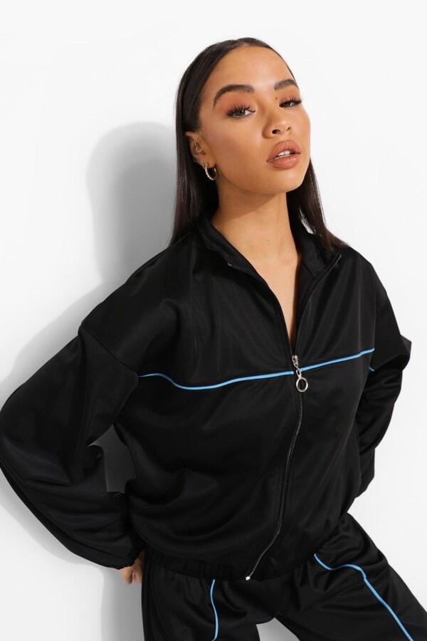 boohoo Oversized Zip Through Jacket